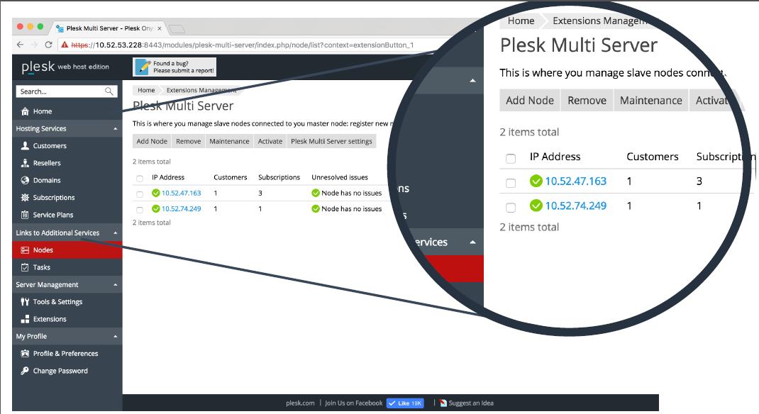 Plesk 新推开创性的多服务器管理工具
